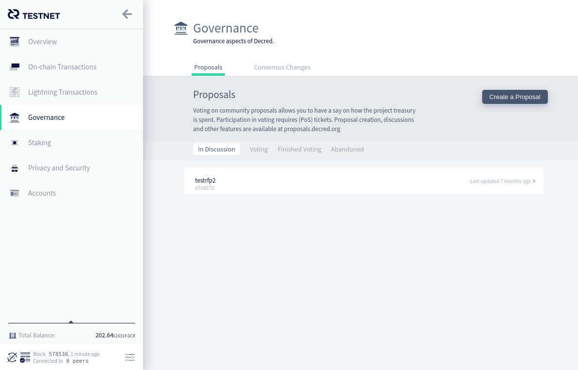 Governance page